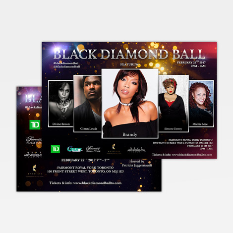 Black Diamond Ball Branding - Hamilton Ontario Graphic design